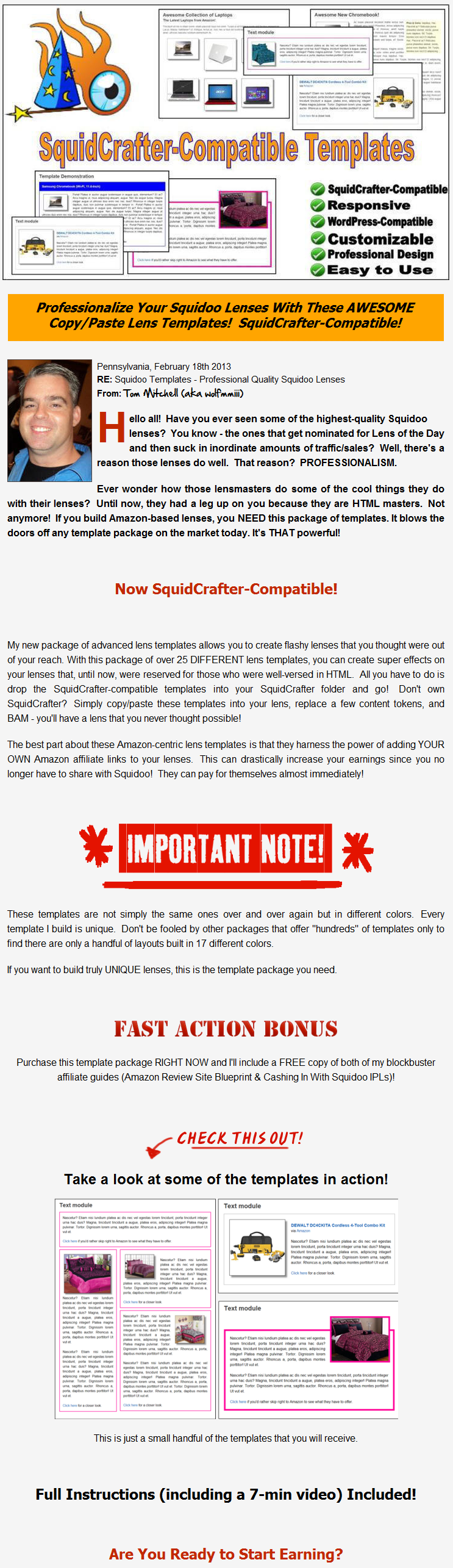 SquidCrafter-Compatible Squidoo Templates for Amazon - BONUSES ...